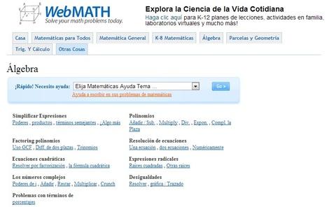 Algebra - WebMath | Álgebra | Scoop.it