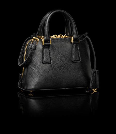 Prada BL0851 Mini Bag Black_Mini bags_Prada bags - Shop for Prada Handbags on store-prada.com | replica chanel blog | Scoop.it