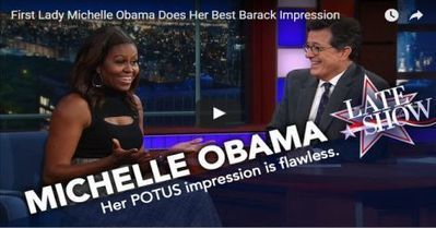 Michelle Obama Does The Perfect Barack Impression (VIDEO) | Educating & Enforcing Human Rights For We The People !! | Scoop.it