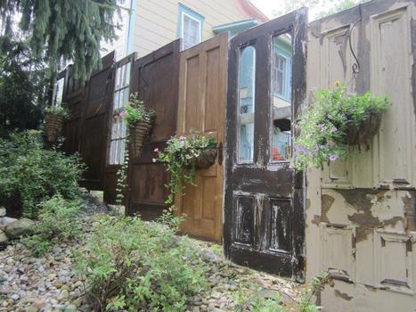 Vintage doors become a fence | DIY | Scoop.it