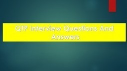 QTP Interview Questions And Answers For Experienced And Freshers | Technology | Scoop.it