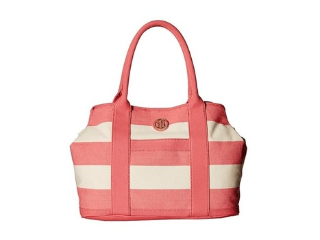 Tommy Hilfiger - TH Totes - Woven Rugby Canvas Shopper (Calypso Coral/Natural) Tote Handbags | Purses and Handbags | Scoop.it