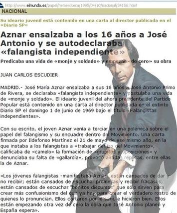 Las cartas nazis de César Asencio, racistas de Mariano Rajoy, y falangistas de Aznar | Partido Popular, una visión crítica | Scoop.it