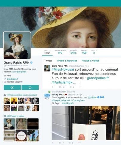 Top 40 des musées et monuments français sur facebook et twitter (3 septembre 2015): les performances de l'été 2015 | Clic France | Scoop.it