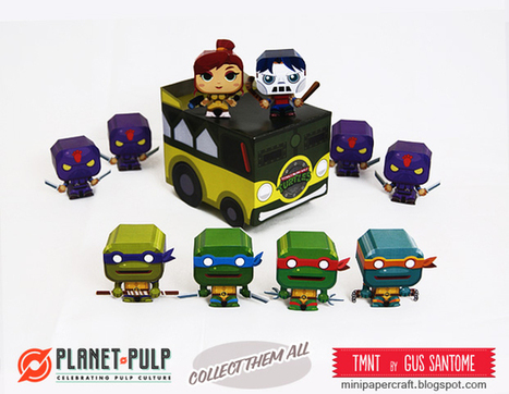 Mini Papercraft: TMNT Van, April and Casey | Anything and nothing, especially nothing ... | Scoop.it