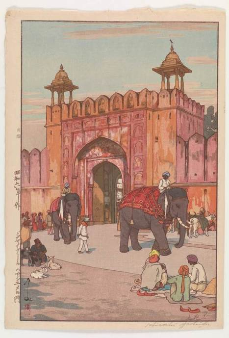 Photos: 1930s India seen in Japanese woodblock prints | estampes  japonaises | Scoop.it
