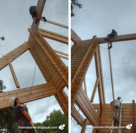 Jour 38, pose des chevrons suivants « Ma Maison écologique ou la maison en bois | maisons bois | Scoop.it