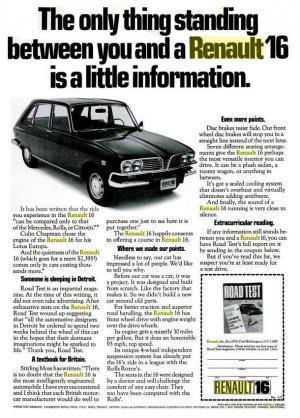 Renault 16 USA: du Cosy auRoomy | Renault 16 | Scoop.it