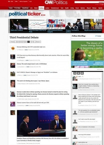CNN adapts the second screen to TV news « ScribbleLive | Blog | Video Everywhere... with a headache | Scoop.it