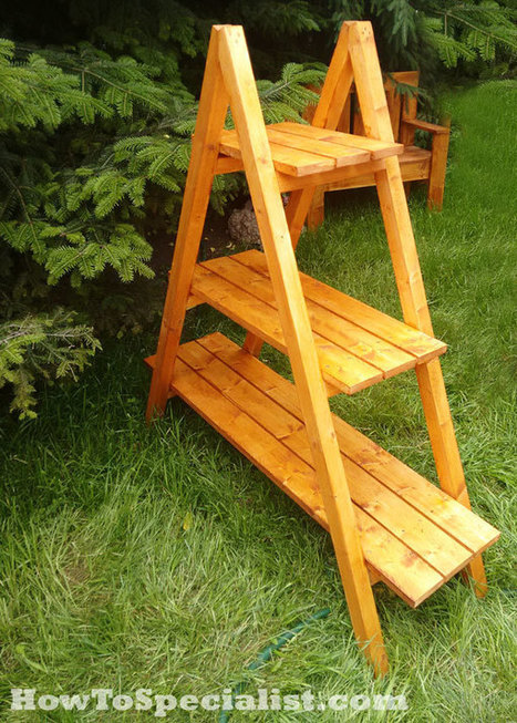 How to make a chair howtospecialist how to - Ladder plant stand plans ...