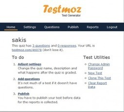 TestMoz. Generateur de tests en ligne - Les Outils Tice | le foyer de Ticeman | Scoop.it