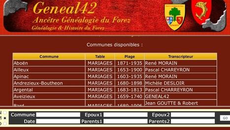 Geneal42 : Un site internet pour retrouver ses ancêtres dans la Loire - zoomdici.fr | Nos Racines | Scoop.it