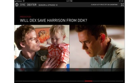 Showtime's second screen iPad app hits 2.0, goes from Social to Sync | screen seriality | Scoop.it