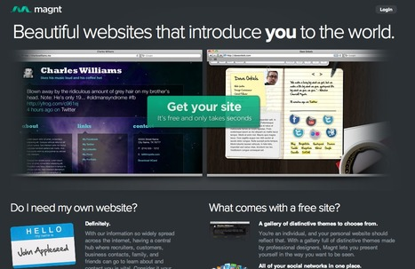 Magnt | Beautiful websites that introduce you to the world. | Prionomy | Scoop.it