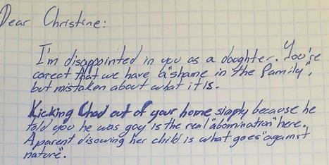 LOOK: Grandfather Writes AMAZING Letter To Daughter After She Kicks Out Gay Grandson | Sex Positive | Scoop.it