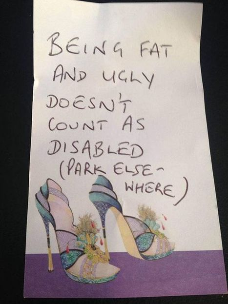 Mum who parked in Tesco disabled pay horrified to find this note on her car | Welfare, Disability, Politics and People's Right's | Scoop.it