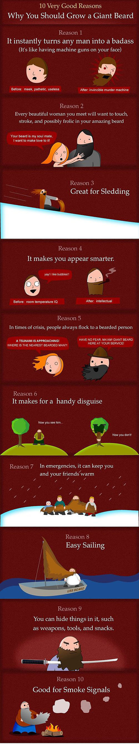 10 Good Reasons Why You Should Grow A Giant Beard [Infographic] | Digital-News on Scoop.it today | Scoop.it
