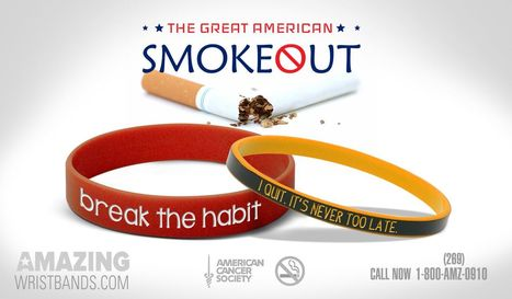 Quit Smoking And Support American Smokeout Day | Craze On Wristbands | Scoop.it