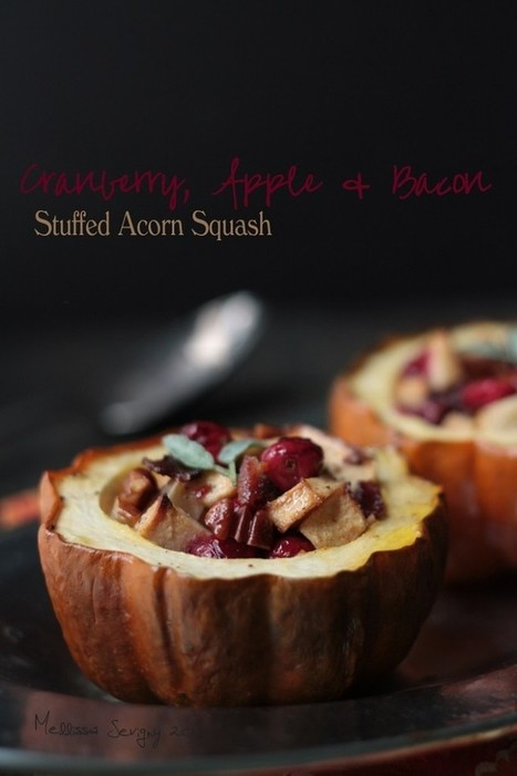Cranberry, Apple and Bacon Stuffed Acorn Squash | fall recipes | Scoop.it