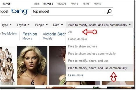 Trouver des images libres de droits sur bing ou google | TIC et TICE pour le formateur | Scoop.it