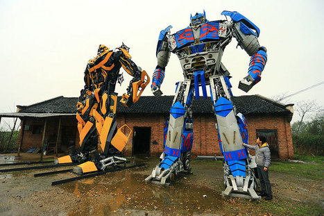 Farmer And His Son From China Build Transformers Out Of Scrap Metal And Car Parts, Make $160K A Year | Inspired By Design | Scoop.it