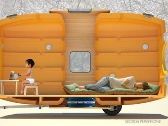 Portable tiny house built from recycled water tanks can be towed by a bicycle - Treehugger | Living Little | Scoop.it