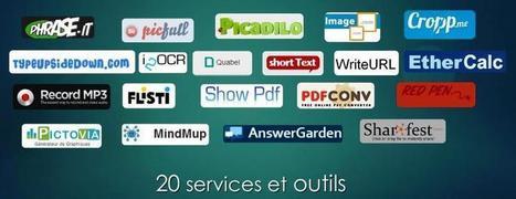 20 outils en ligne gratuits pour la formation | mes liens | Scoop.it