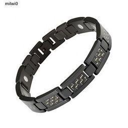 NEW/ Jewelry/Willis Judd Men's Black Titanium Magnetic Bracelet Gold Black   Magnetic Jewelry   Scoop.it