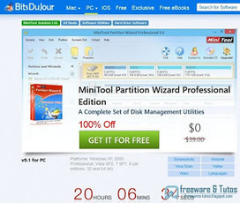 Offre promotionnelle : MiniTool Partition Wizard Professional Edition 9 gratuit ! | Freewares | Scoop.it