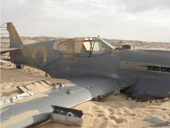 Un P-40 Kittyhawk de la RAF retrouvé presque intact dans le désert | SandyPims | Scoop.it