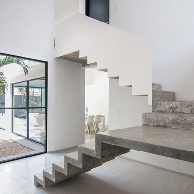Warm Architects completes house with a cast concrete staircase | Architecture and Architectural Jobs | Scoop.it