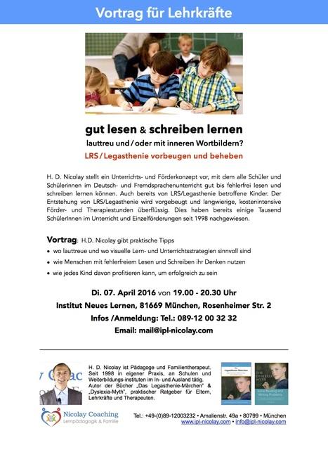 Vortrag-München, gut lesen & schreiben am 7.4.16 | Reading & Writing Challenges and Dyslexia | Scoop.it