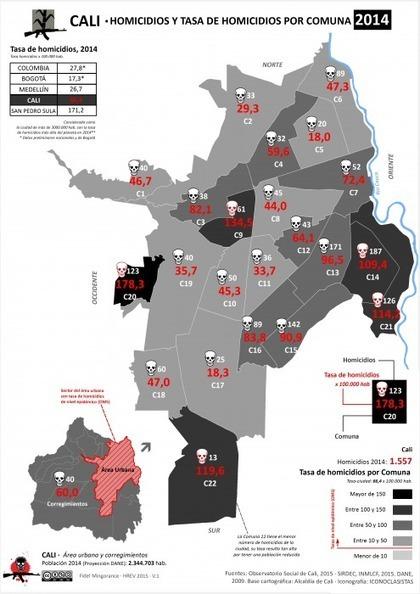 Mapas de homicidios y desapariciones en Cali y Medellín | Geografía | Scoop.it
