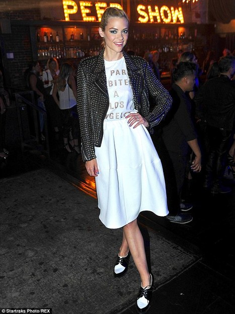 Jaime King Parties in Studded Leather Jacket | leather Craze | Scoop.it