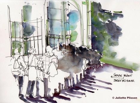 URBAN SKETCHERS FRANCE: Jardin des Plantes, Paris | Libre Cours | Scoop.it