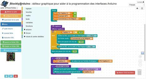 Blockly Arduino : l'esprit d'Ardublock, sans ses inconvénients ! | La technologie au collège | Scoop.it