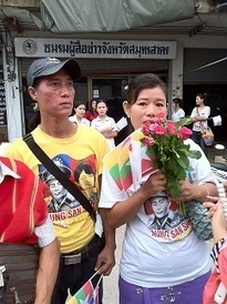 Myanmar workers gather to meet Aung San Suu Kyi   Thailand Business News   Scoop.it