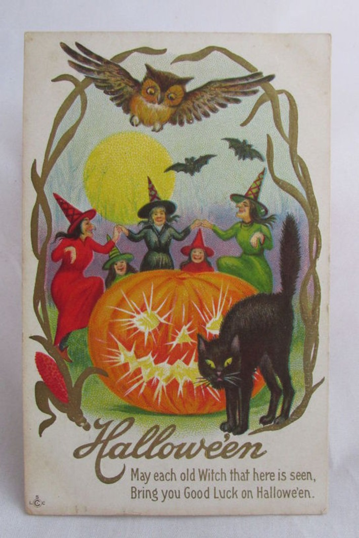Antique & Vintage Halloween Postcards | Antiques & Vintage Collectibles | Scoop.it