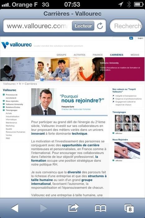 Sociétés du CAC 40 : quelle expérience candidat offrez-vous sur mobile ? - | Marque employeur | Scoop.it