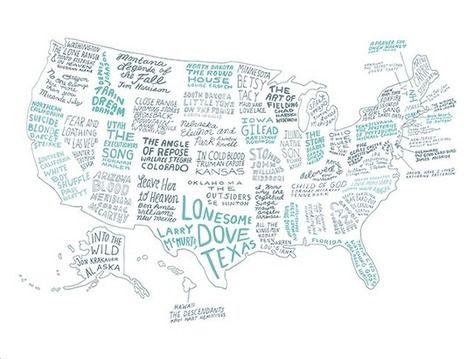 The Literary United States: A Map of the Best Book for Every State | Bradwell Institute Media | Scoop.it