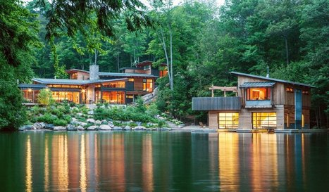 Deep In The Forest: Beautiful house surrounded by vegetation has wonderful views of the lake | Architecture and Architectural Jobs | Scoop.it