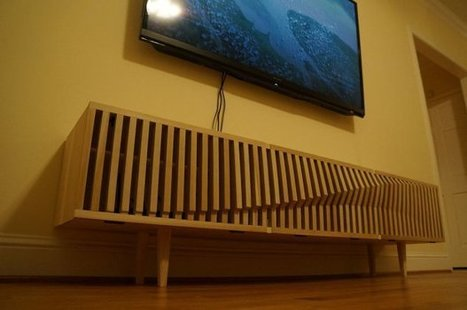 Download & Build This Sine Wave Inspired TV Console | Maker Stuff | Scoop.it