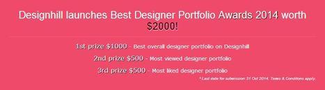 Designhill launches Best Designer Portfolio Awards 2014 worth $2000! | Designhill | Scoop.it