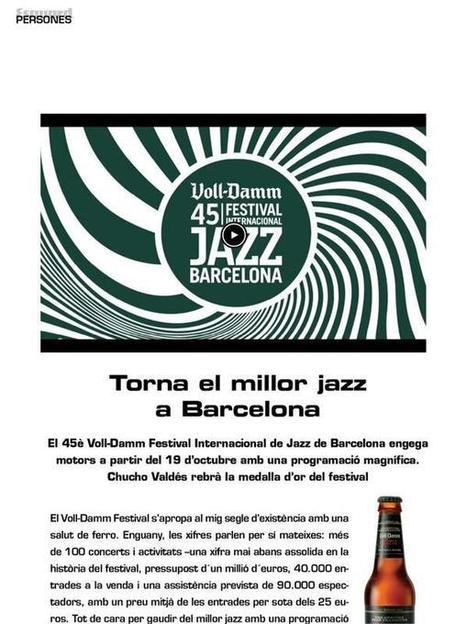 Twitter / RevistaEsguard: Torna el millor #jazz a ... | Noticies-Camps de Cotó | Scoop.it