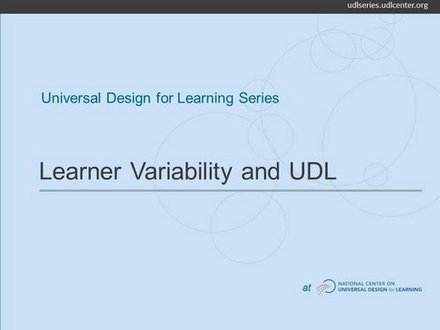Video: Learner Variability and Universal Design for Learning | Wiki_Universe | Scoop.it