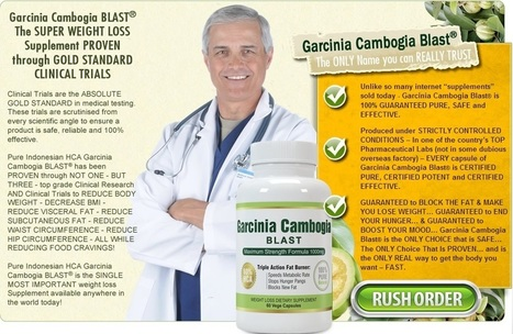 Garcinia Cambogia Blast - Absolutely Risk Free Trial & Supplies Limited! | You should purchase | Scoop.it