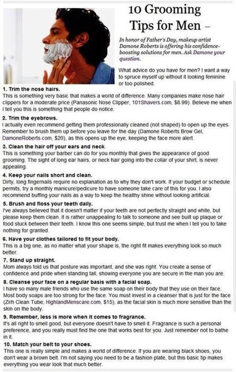 Twitter / BestProAdvice: Grooming tips for guys ... | Diet and Health | Scoop.it