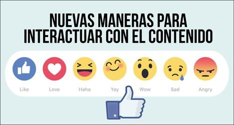 Facebook: Función Reactions permite expresar emociones más allá del Like   desdeelpasillo   Scoop.it