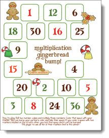 Multiplication Gingerbread Bump | Seasonal Freebies for Teachers | Scoop.it