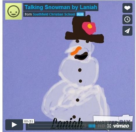 Talking Snowmen using Drawing Pad and ChatterPix Kids app | Technology from SCS Elementary | ipad apps education | Scoop.it